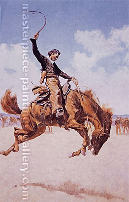 Frederic Remington, The Bronco Buster, 1895, oil on canvas, 36 x 23 in. / 91.4 x 58.4 cm, US$320