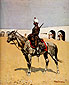 Frederic Remington, Cavalryman of the Line, Mexico, 1889, oil on canvas, 24.1 x 20.1 in. / 61.3 x 50.9 cm, US$265