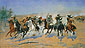 Frederic Remington, Dash for the Timber, 1889, oil on canvas, 48.3 x 84.1 in. / 122.6 x 213.7 cm, US$1,200