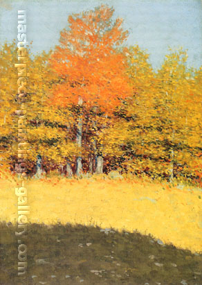 Frederic Remington, Untitled - Early Autumn, 1907-1908, oil on canvas, 26.1 x 18.1 in. /  66.3 x 46 cm, US$330