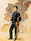 Frederic Remington, Mexican Lieutenant, Engineer Battalion, oil on canvas, 31.1 x 23.8 in. / 79.1 x 60.5 cm, US$300