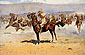 Frederic Remington, General French's Irregular Harassing the Boers After the Relief of Kimberley, 1900, oil on canvas, 24.6 x 38.4 in. / 62.5 x 97.5 cm, US$370