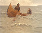 Frederic Remington, Hauling in the Gill Net, oil on canvas, 25 x 32.5 in. / 63.5 x 82.6 cm, US$330