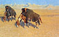 Frederic Remington, Indian Simulating Buffalo, 1908, oil on canvas, 25.9 x 40.1 in. / 65.8 x 101.9 cm, US$390