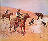 Frederic Remington, His Last Stand, 1895, oil on canvas, 25.4 x 29.4 in. / 64.4 x74.7 cm, US$290