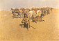 Frederic Remington, An Old Time Plans Fight, 1904, oil on canvas, 27 x 40 in. / 68.6 x 101.6 cm, US$410