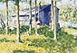 Frederic Remington, Pete's Shanty, 1908, oil on canvas, 19.5 x 25.5 in. / 49.5 x 64.8 cm, US$260