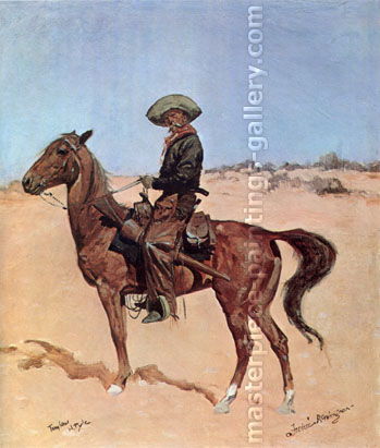 Frederic Remington, The Puncher, 1895, oil on canvas, �24 x 20.3 in. / 61 x 51.3 cm, US$300