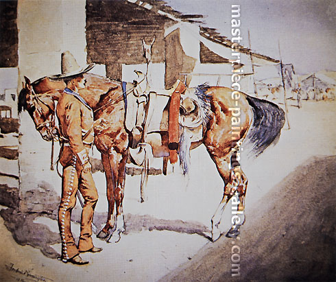 Frederic Remington, A Rural Guard, Mexico, 1890-92, oil on canvas, 25.7 x 30.7 in. / 65.2 x 78 cm, US$300
