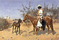 Frederic Remington, The Sentinel, 1889, oil on canvas, 34 x 49 in. / 86.4 x 124.5 cm, US$480