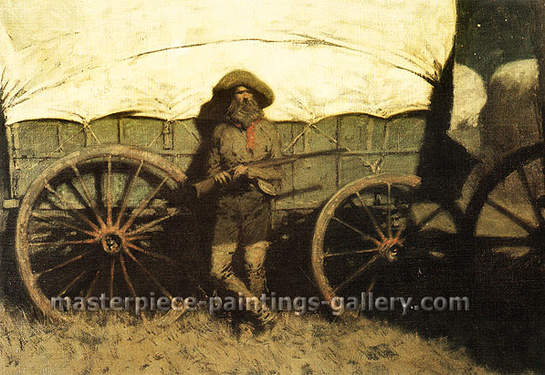 Frederic Remington, The Sentinel, 1907, oil on canvas, 27 x 36 in. / 68.6 x 91. cm,US$350