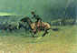 Frederic Remington, The Stampede, 1908, oil on canvas, 27 x 40 in. / 68.6 x 101.6 cm, US$450