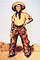 Frederic Remington, Texas Cowboy, 1890, oil on canvas, 33.1 x 22.4 in. / 84.2 x 57 cm, US$300