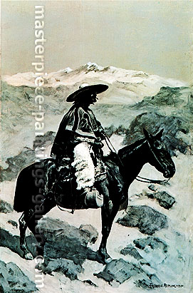 Frederic Remington, A Vaquero, 1890, oil on canvas, 28.1 x 18.3 in. / 71.3 x 46.3 cm, US$330