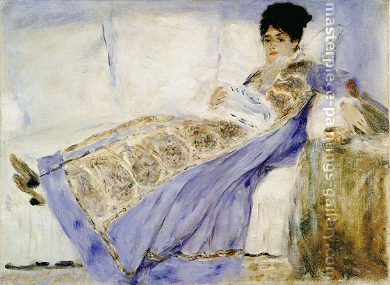 Pierre-Auguste Renoir, Madame Monet Lying on a Sofa, 1874, oil on canvas, 21 x 28 in. / 53.3 x 71.1 cm, US$290