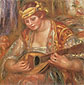Pierre-Auguste Renoir, Woman with a Mandolin, 1919, oil on canvas, 30 x 30 in. / 76.2 x 76.2 cm, US$300