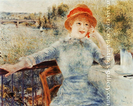 Pierre-Auguste Renoir, Portrait of Alphonsine Fournaise, 1879, oil on canvas, 26.6 x 33.5 in. / 67.5 x 85 cm, US$320