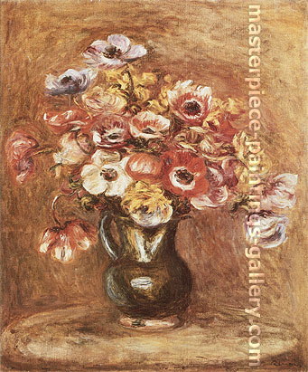 Pierre-Auguste Renoir, Anemones,1898, oil on canvas, 23 x 19.5 in. / 58.4 x 49.5 cm, US$330