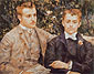 Pierre-Auguste Renoir, Charles and Georges Durand-Ruel, 1882, oil on canvas, 25.5 x 32 in. / 64.8 x 81.3 cm, US$320.