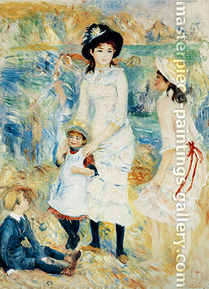 Pierre-Auguste Renoir, Children on Seashore | Enfants au bord de la mer a Guernesey, 1883-84, oil on canvas, 36 x 26.2 in. / 91.5 x 66.5 cm, US$350