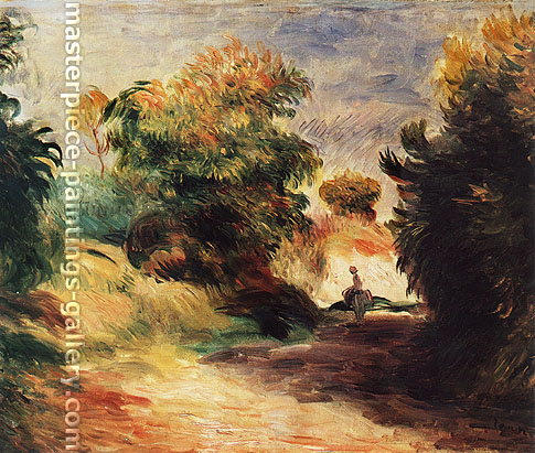 Pierre-Auguste Renoir, Countryside near Cagnes, 1907, oil on canvas, 24.4 x 29.1 in. / 61.9 x 73.8 cm, US$350