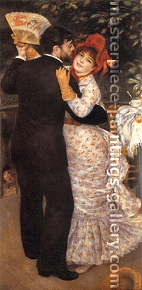 Pierre-Auguste Renoir, Dance in the Country,  1883, oil on canvas, 30.7 x 14.8 in. / 78 x 37.5 cm, US$300
