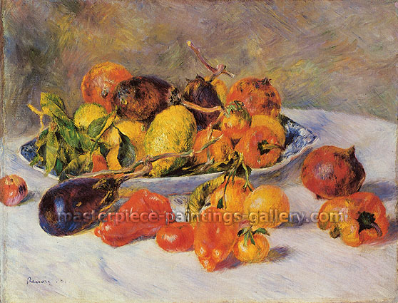 Pierre-Auguste Renoir, Fruits from the Midi, 1881, oil on canvas, 19.7 x 24.8 in. / 50 x 63 cm, US$330