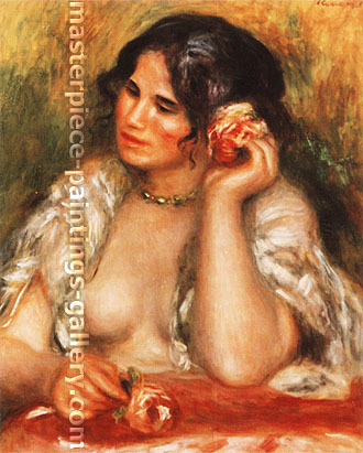 Pierre-Auguste Renoir, Gabrielle with a Rose, 1911, oil on canvas, 25.9 x 20.9 in. / 65.8 x 53.2 cm, US$300