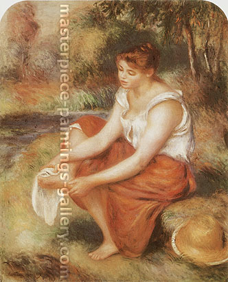 Pierre-Auguste Renoir, Girl Wiping Her Feet, 1890, oil on canvas, 25.8 x 21.5 in. / 65.5 x 54.6 cm, US$335