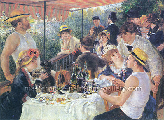 Pierre-Auguste Renoir, The Luncheon of the Boating Party, 1881, oil on canvas, 25.5 x 34 in. / 64.8 x 86.4 cm, US$430