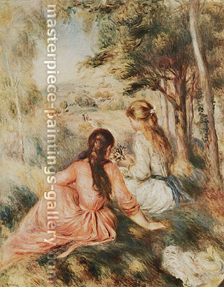 Pierre-Auguste Renoir, In the Meadow, 1890, oil on canvas, 32 x 25.3 in. / 81.3 x 64.3 cm, US$330
