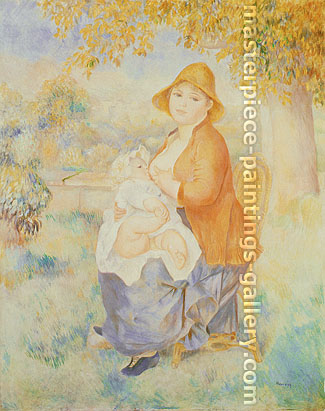 Pierre-Auguste Renoir, Mother and Child, 1886, oil on canvas, 32 x 25.5 in. / 81.3 x 64.8 cm, US$330