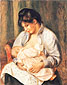 Pierre-Auguste Renoir, Mother and Child | Mere et enfant, 1893, oil on canvas, 24.5 x 19.3 in. / 62.2 x 49.1 cm, US$270