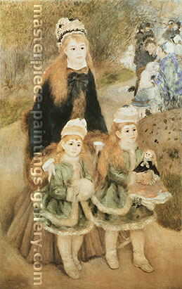 Pierre-Auguste Renoir, Mother and Children, 1875, oil on canvas, 66.1 x 41.3 in. / 167.9 x 104.9 cm, US$670.