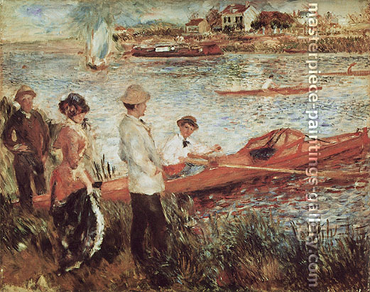 Pierre-Auguste Renoir, Oarsmen at Chatou, 1879, oil on canvas, 31.8 x 39.1 in. / 80.8 x 99.3 cm, US$400.