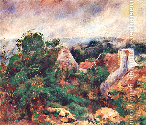 Pierre-Auguste Renoir, La Roche-Guyon, 1885, oil on canvas, 19.8 x 23.5 in. / 50.2 x 59.7 cm, US$265