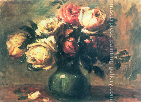 Pierre-Auguste Renoir, Still life with Roses, 1890, oil on canvas, 24.5 x 19.3 in. / 62.2 x 49.1 cm, US$350
