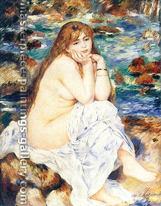 Pierre Auguste Renoir Seated Bather, 1883, oil on canvas, oil on canvas, 47.1 x 36.8 in / 119.7 x 93.5 cm, US$540