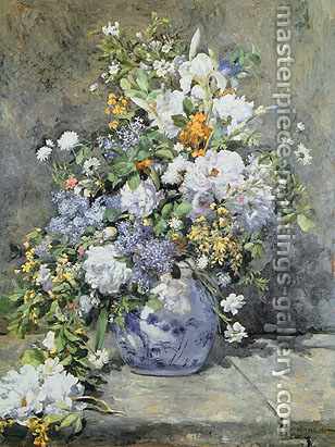 Pierre Auguste Renoir, Spring Bouquet, 1866, oil on canvas, 41.3 x 31.6 in. / 104.8 x 80.3 cm, US$450