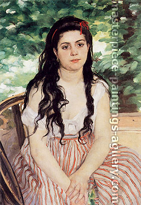 Pierre-Auguste Renoir, Summer (Study) | Lise | The Gypsy Girl, 1868, oil on canvas, 33.5 x 23.2 in. / 85 x 59 cm, US$330