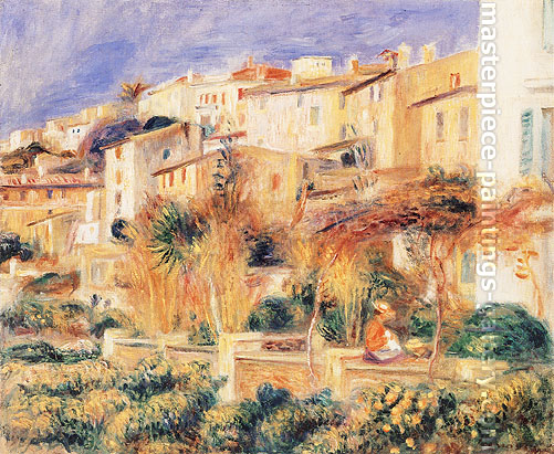 Pierre-Auguste Renoir, Terrace at Cagnes | Terrasse a Cagnes, 1906, oil on canvas, 18.2 x 21.7 in. / 46.3 x 55 cm, US$320