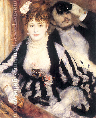 Pierre-Auguste Renoir, The thratre box | La Loge, 1874, oil on canvas, 31.5 x 24.8 in. / 80 x 63 cm, US$310