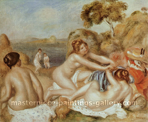 Pierre-Auguste Renoir, Three Bathers, 1895, oil on canvas, 21.5 x 25.9 in. / 54.6 x 65.8 cm, US$320