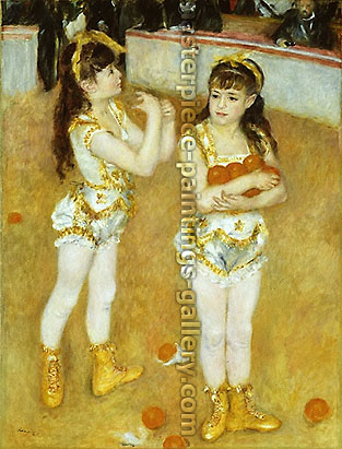 Pierre-Auguste Renoir, Two Little Circus Girls, 1875-76, oil on canvas, 51.5 x 38.5 in. / 130.8 x 97.8 cm, US$520