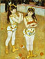 Pierre-Auguste Renoir, Two Little Circus Girls, 1875, oil on canvas, 51.5 x 38.5 in. / 130.8 x 97.8 cm, US$600