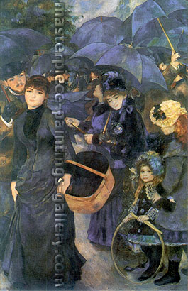 Pierre-Auguste Renoir, The Umbrellas, 1881-86, oil on canvas, 39.4 x 25 in. / 100 x 63.4 cm, US$360