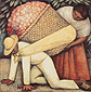Diego Rivera, The Flower Carrier, 1935, oil on canvas, 48 x 47.8 in. / 122 x 121.3 cm, US$490.