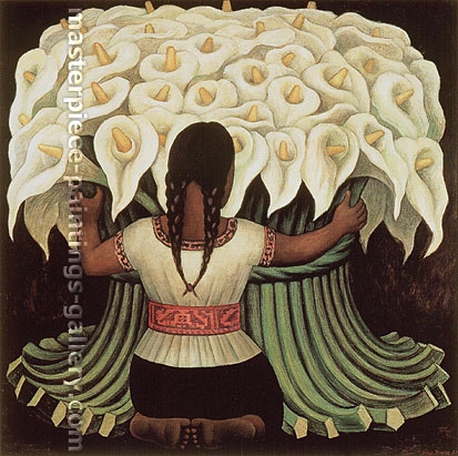 Diego Rivera, Flower Seller, 1942, oil on canvas, 48 x 48 in. / 122 x 122 cm, US$520