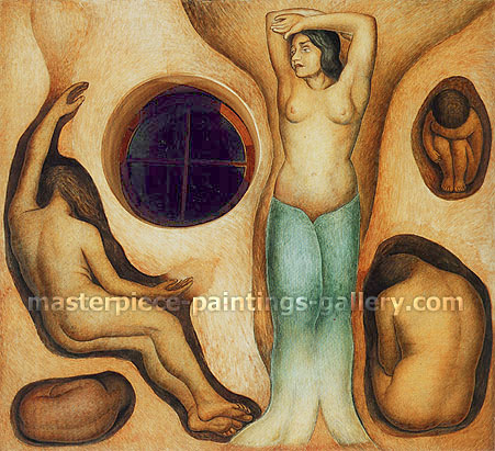 Diego Rivera, Germination | Germinacion, 1926-27, oil on canvas, 41.8 x 41.1 in. / 106.2 x 104.4 cm, US$450