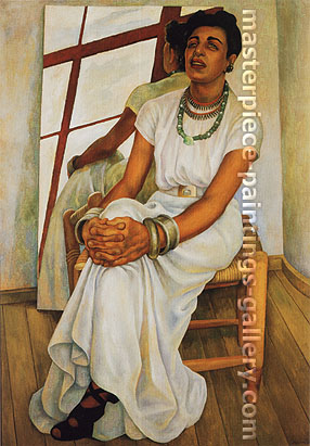 Diego Rivera, Portrait of Lupe Marin, 1938, oil on canvas, 33.7 x 24.1 in. / 85.7 x 61.2 cm, US$340